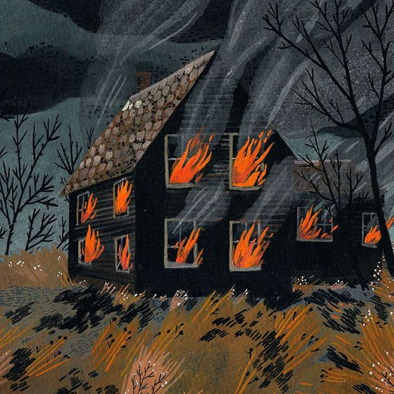 animated house on fire