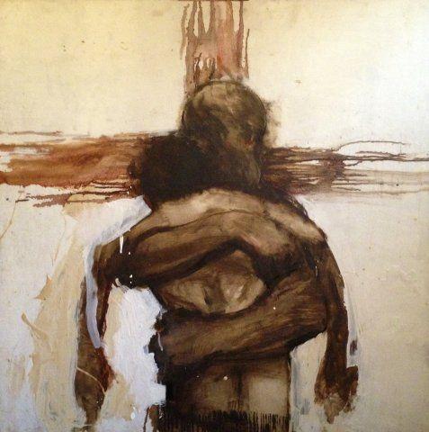 jesus crucifixion hug