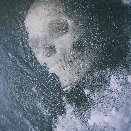 skull under ice